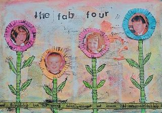 art journal page by Carin Cullen artfullycarin.com interviewed at www.LearnExploreShare.com