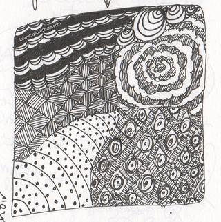 Zen tangle no.2 in my journal