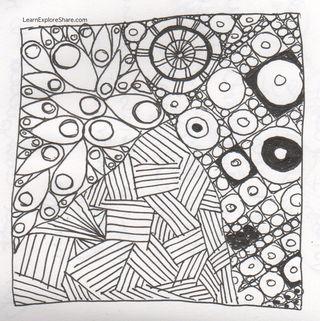 Zen tangle no.3 in my journal